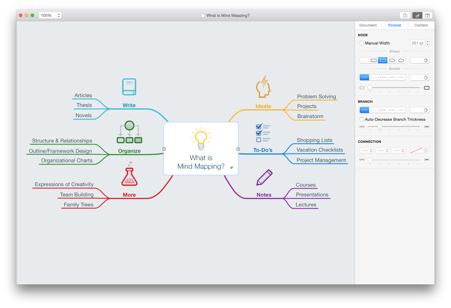 MindNode for Mac OS X