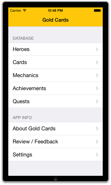GoldCards Screenshot 1