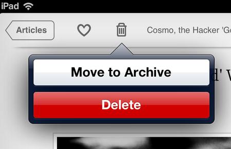 Archive Menu