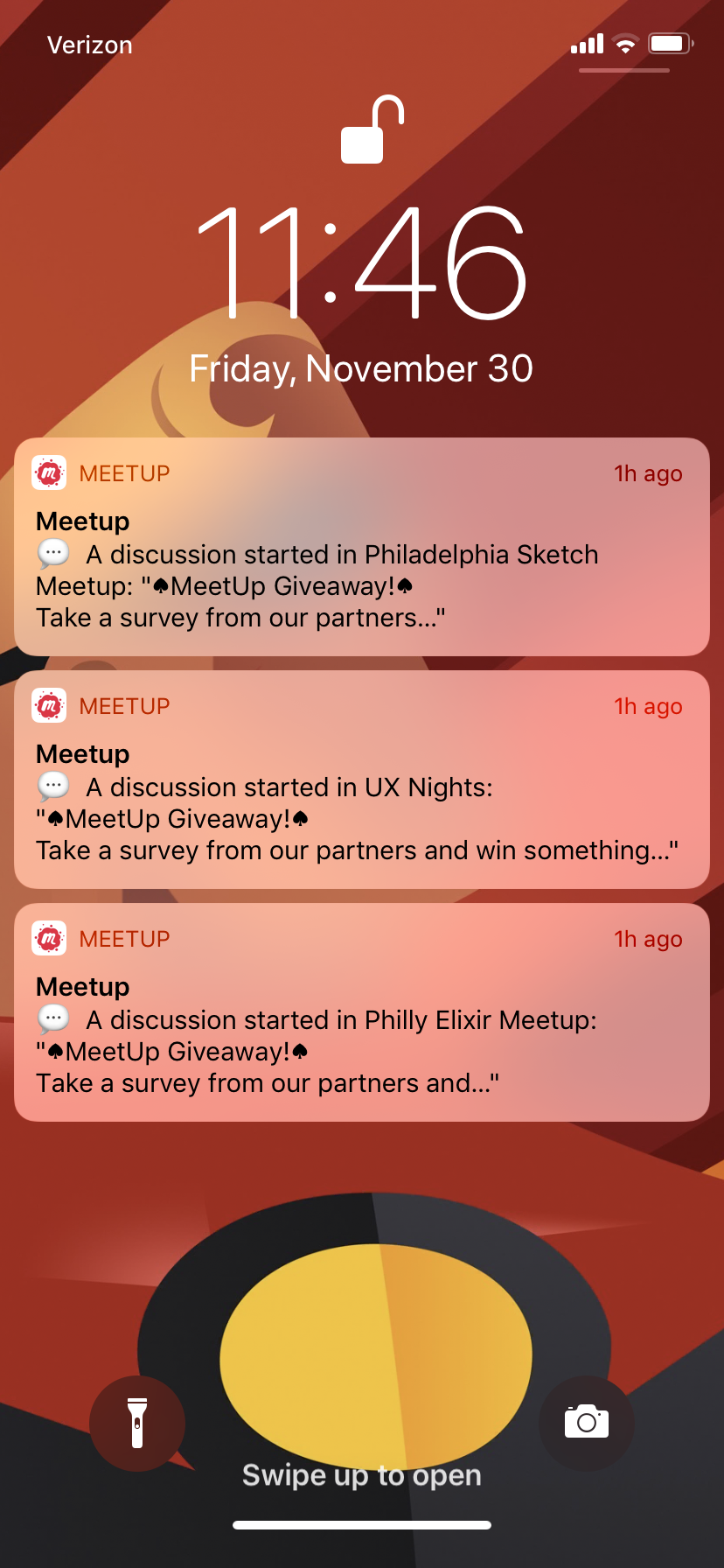 Push Notifications with survey link.