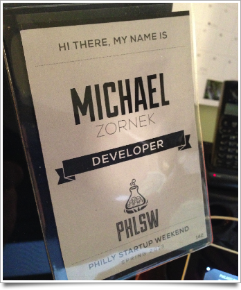 My Startup Weekend Badge